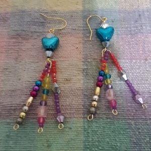 Acrylic heart earrings